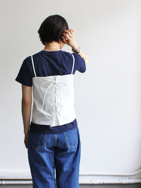 AURALEE(オーラリー) SELVEDGE WETHER CLOTH LACE-UP CAMISOLE