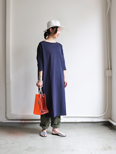 maillot(マイヨ)  Boatneck Big One-piece (ボートネックビックワンピース)