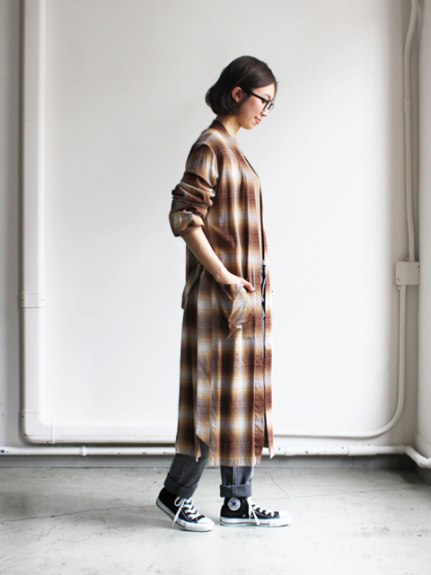 PHEENY(フィーニー)  Rayon ombre check robe