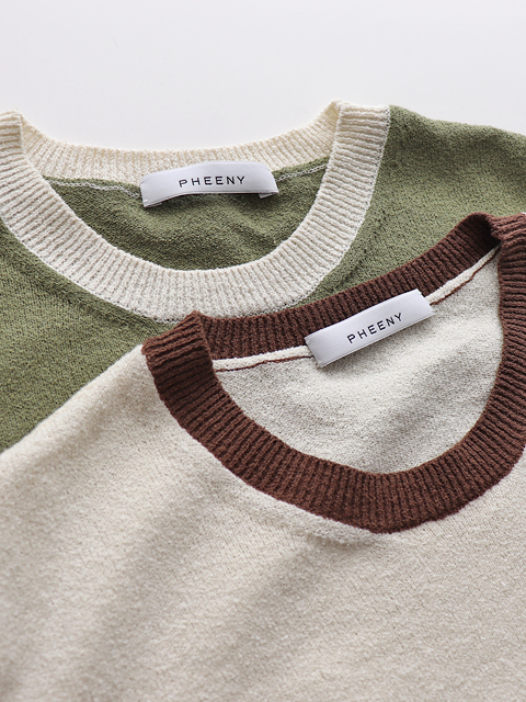 PHEENY(フィーニー)  Ringer's neck S/S knit