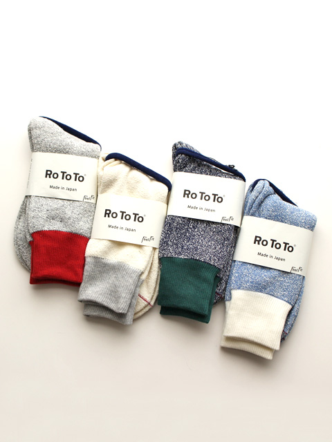 RoToTo(ロトト) Double Face Socks -Silk&Cotton