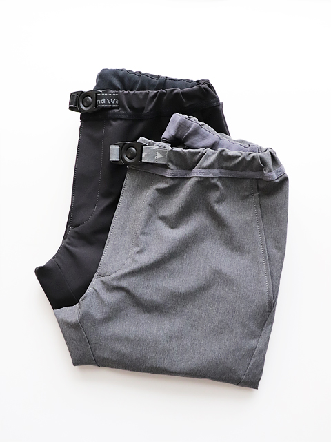 and wander(アンドワンダー)  2way stretch long pants