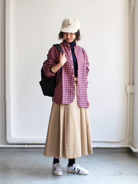maillot(マイヨ) sunset big gingham work shirts (サンセットビッグギンガムワーク)  MAS-004B