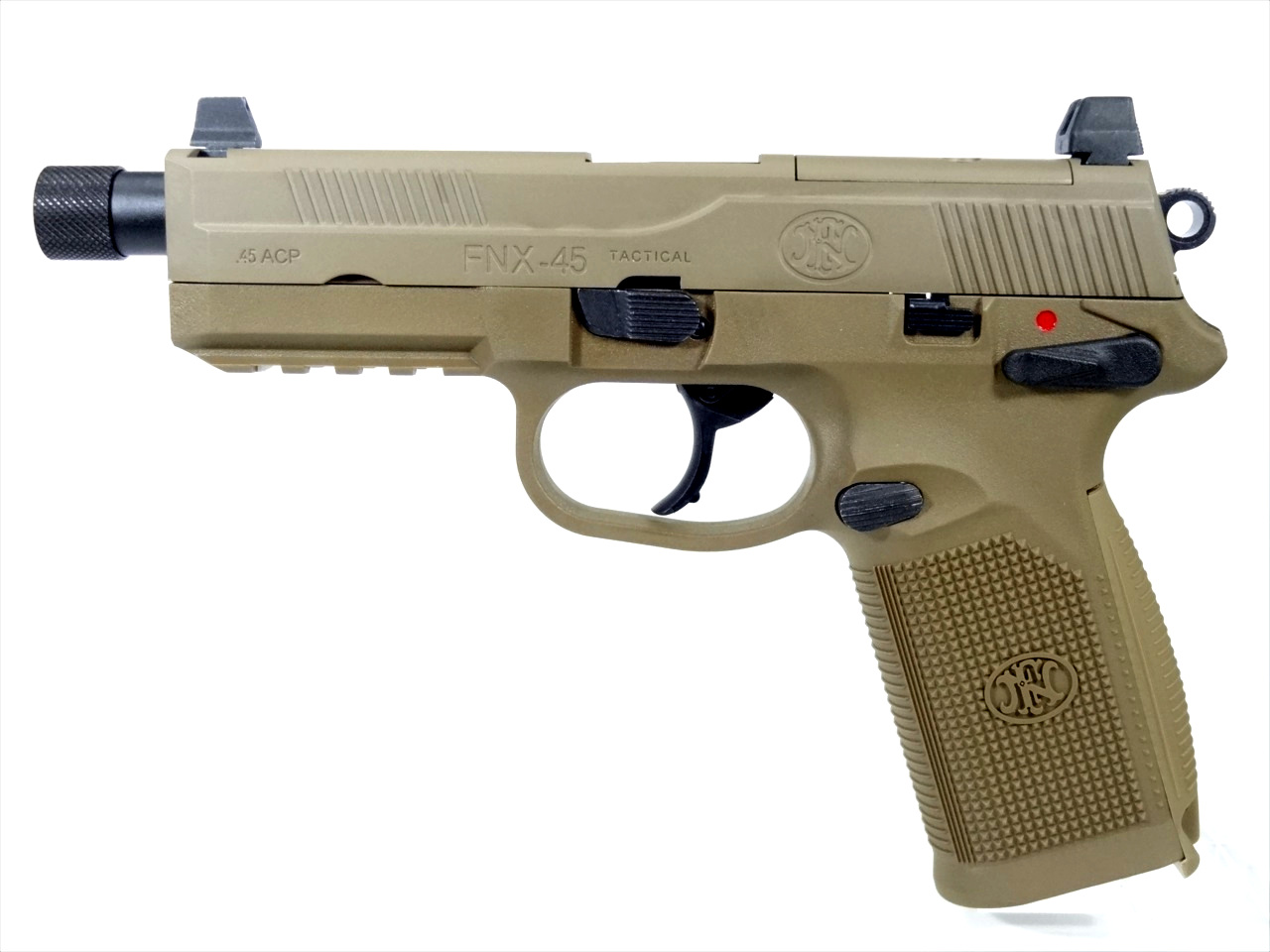 CyberGun FNX-45 Tactical ガスブローバックピストル (DE)  Cerakote Limited