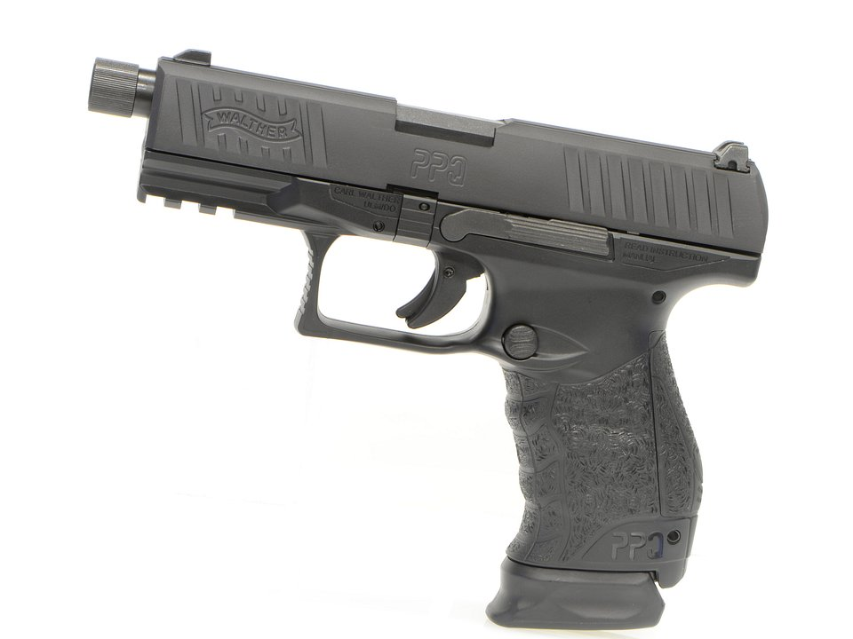 Umarex Walther PPQ Navy GBBハンドガン (BK) Cerakote Limited