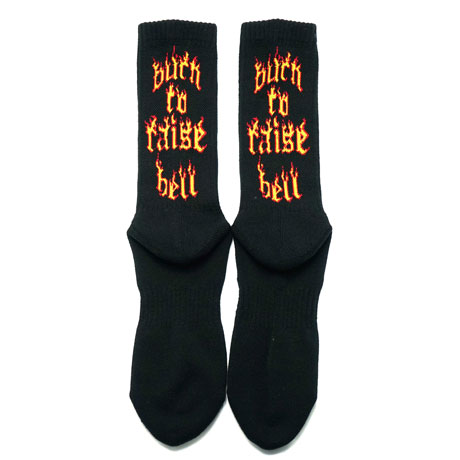 SURF SKATE CAMP/サーフスケートキャンプ Burn to raise hell Socks
