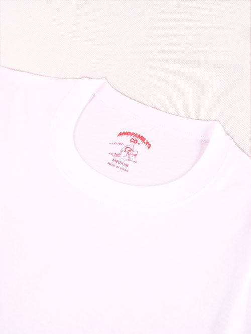 "ANDFAMILY/アンドファミリー Whitee Collection ""CRL-TEE""&""CR3/4-TEE"""
