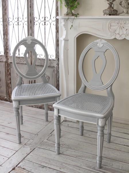シャビーシックなダイニングチェア 椅子 カントリーコーナー 【Country Corner】 Gustavienコレクション 木製 チェア フレ