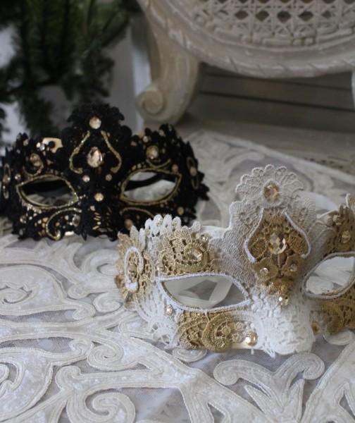 ★SALE★ クリスマスオーナメント♪ (マスカレードマスク・2種) 仮面 仮装 シャビーシック 北欧 フレンチ ロマンテ