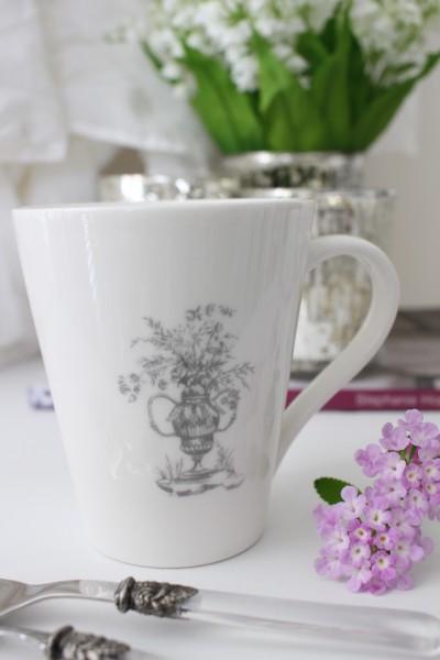 トワルドジュイのフランス食器 カントリーコーナー マグカップ magcup カフェ食器 白い食器 輸入食器 シャビーシック フレンチカ
