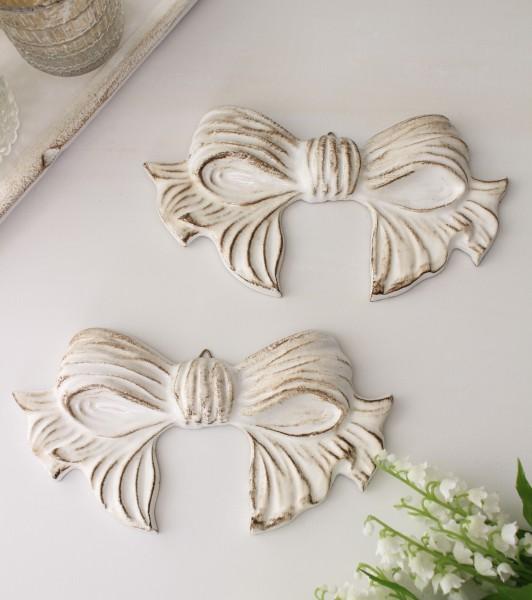 イタリア製  SOLDI リボンウォールデコレーション ホワイト 壁飾り インテリアアクセサリー リボンモチーフ アンティーク 雑貨