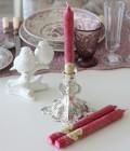 クラシカルピンクに甘酸っぱい香り♪♪アロマキャンドル 香り付きキャンドルスティック フレーバーキャンドル ワイルドチェリー