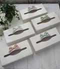 Bon Ruban♪♪ イタリア製 ティッシュボックス 10色 シャビーシック リボンモチーフ ティッシュケース 木製 ハンドメイド アンティ