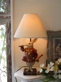 アリスラビットの卓上ランプ・テーブルランプ 25W ウサギのランプ 置物 輸入雑貨 シャビーシック アンティーク風 フレ