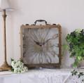 シャビーなアイアンPARIS置時計 大型 置時計 テーブルクロック 輸入雑貨 アンティーク調 アンティーク 雑貨 antique シ