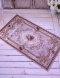 イタリア製の玄関マット・フラワーピンク ゴブラン織り 【Blanc Mariclo・ブランマリクロ】 ラグマット 絨毯 シャビーシッ