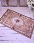 イタリア製の玄関マット ベージュ ゴブラン織り 【Blanc Mariclo・ブランマリクロ】 ラグマット 絨毯 シャビーシック アンティー