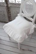 Blanc Mariclo・ブランマリクロ (Basicコレクション フリルチェアパッド(ホワイト) パンヤ付き) チェアカバー クッショ