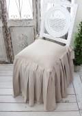 Blanc Mariclo・ブランマリクロ (Basicコレクション チェアパッド(ロングプリーツ・ベージュ) パンヤ付き) チェアカバー