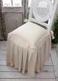 Blanc Mariclo ブランマリクロ Basicコレクション チェアパッド(ロングプリーツ・ナチュラル) パンヤ付き チェアカバー シャ