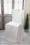 Blanc Mariclo ブランマリクロ Basicコレクション チェアカバー (リボンタイプ・ホワイト) チェアパッド シャビーシック アン