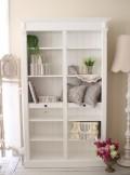 ハイシェルフ (ブックケース & 2コラム) Blanc Mariclo ブランマリクロ シャビーシック ホワイト 本棚 飾り棚 アンティーク風
