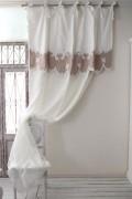 ★SALE・30★ Blanc Mariclo・ブランマリクロ (Villa Borgheseシリーズ リボンカーテン) カーテン のれん 間仕切り