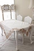 ★SALE・30★ Blanc Mariclo ブランマリクロ (Villa Borgheseシリーズ テーブルクロス 150cm角 正方形) シャビーシック