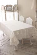 Blanc Mariclo ブランマリクロ (FulFulシリーズ フリル テーブルクロス 160×220 長方形) 綿 コットン シャビーシック アンティ