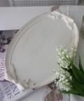 ★SALE・30★ Blanc Mariclo ブランマリクロ (リボントレイ Lサイズ オフホワイト) お盆 トレー ディスプレイ シャビーシ