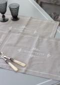 ボナペティ・ランチョンマット(フレンチグレー) プレースマット ランチョンマット 布製 シャビーシック フレンチカントリ