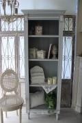 シャビーシックなハイシェルフ カントリーコーナー 【Country Corner】 Gustavienコレクション シェルフ チェスト 本棚 ブ