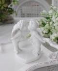 エンジェル&フェアリー置物 【天使&妖精KISSセット】 オブジェ ホワイト 輸入雑貨 癒し 可愛い 姫系