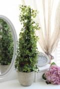 アイビーのトピアリー型オブジェ(造花) コーン型 トピアリー アイビー 室内用造花 観葉植物 オブジェ