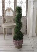 ツゲのフレンチトピアリー スクリュータイプ オブジェ 置物 ツゲトピアリー 造花 トピアリー ツゲ