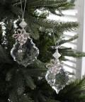 ★SALE★ クリスマスオーナメント♪ (アクリルホリーオーナメント・パール2種セット) シャビーシック 北欧 フレンチ