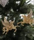★SALE★ クリスマスオーナメント♪ (ペガサスオーナメント・2種セット) シャビーシック 北欧 フレンチ ロマンティッ