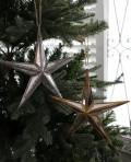 クリスマスオーナメント♪ (ミラースターオーナメントS・2種) シャビーシック 北欧 フレンチ ロマンティック ラインス