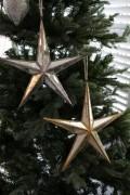 クリスマスオーナメント♪ (ミラースターオーナメントL・2種) シャビーシック 北欧 フレンチ ロマンティック ラインス