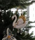 クリスマスオーナメント♪ (ロイヤルホワイトスワン・オーナメント) シャビーシック 北欧 フレンチ ロマンティック ライ