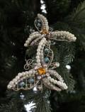 クリスマスオーナメント♪ (パールビーズパピオンクリップ・オーナメント) シャビーシック 北欧 フレンチ ロマンティック