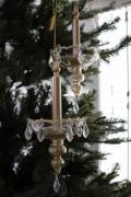 クリスマスオーナメント♪ (グラスキャンドルオーナメント) シャビーシック 北欧 フレンチ ロマンティック ラインストー