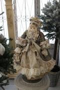 クリスマスオーナメント♪ (ヴィクトリアンキャット・猫の貴婦人 グリーン系) 猫の置物 人形 キャット シャビーシック