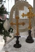クリスマスオーナメント♪ (クロスオブジェM・十字架) シャビーシック フレンチ ロマンティック ヴィクトリアン クリス