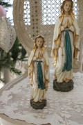 クリスマスオーナメント♪ (ルルドマリアM マリア 置物) シャビーシック フレンチ ロマンティック ヴィクトリアン ク