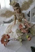 クリスマスオーナメント♪ (ボタニカルポピー・ピンク系) 造花 シャビーシック フレンチ ロマンティック 可愛い クリス