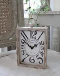 PARIS・レクトスチールクロック(ベージュ)♪ 置時計 シャビーシック フレンチカントリー アンティーク 雑貨 アンティーク
