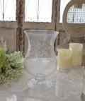 【COMPTOIR DE FAMILLE】 コントワールドゥファミーユ ガラス花瓶 ガラスベース サンドブラスト ガラス 花瓶 フランス直輸