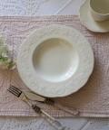 【COMPTOIR DE FAMILLE】 コントワールドゥファミーユ Lise リズ スープ皿 スーププレート フランス食器 オフホワイト
