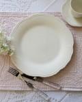【COMPTOIR DE FAMILLE】 コントワールドゥファミーユ Lise リズ ディナー皿 ディナープレート フランス食器 オフホワイト